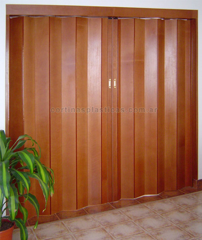Puertas plegadizas de madera precios mayoristas minorista for Aberturas pvc simil madera precios